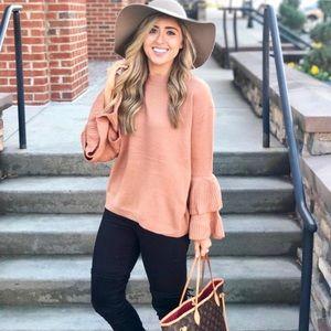 Sweaters - Ruffle sleeved sweater